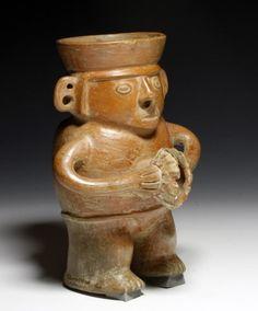 Inca Redware Pottery Musician