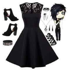 """""""New Year's with Andy Biersack"""" by rubysal ❤ liked on Polyvore featuring Bonnibel, DB Designs and andyblack"""
