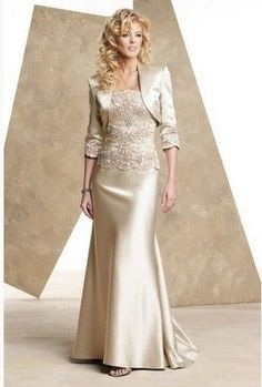 Long Mother Of The Bride Dresses Free Jacket For Wedding Guest Evening Gown 2016