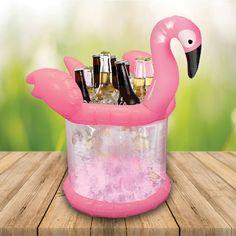 Pink Flamingo Ice Bucket Beer Cooler http://www.englandathome.com/product/flamingo-ice-bucket/