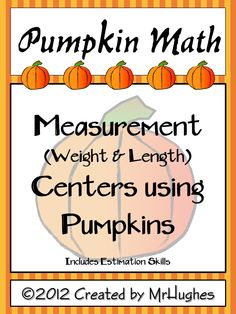 Your students will love these two different centers that use REAL pumpkins. And, YOU will love that your students are practicing math skills that always seem to need reviewing. ($)
