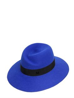 This blue felt topper is an investment MUST! // Virginie Lapin Fur Felt Hat by Maison Michel