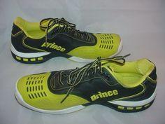 Mens Prince Rebel 2 Neon Green & Black Tennis Shoes Size US 14  Size UK 13  #Prince #TennisShoes