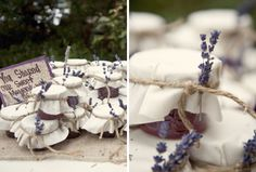Good morning lovelies, as promised yesterday, I am back with more lavender wedding ideas! Let's start with wedding favors today.