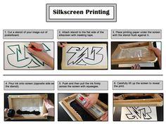 Silkscreening steps
