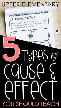 Read about five types of cause and effect to teach to upper elementary students. Help students use the cause - effect text structure to dig deeper into their reading. Reading Strategies, Reading Activities, Teaching Reading, Reading Comprehension, Teaching Ideas, Teaching Career, Steam Activities, Comprehension Strategies, Guided Reading
