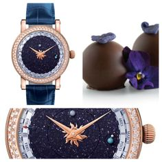 Wear this Moonphase Christiaan van der Klaauw timepiece while eating a chocolate from Vosges' Lunar Club of the Month!