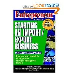 Entrepreneur Magazine: Starting an Import/Export Business.  List Price: $37.95  Sale Price: $25.05  Savings: 34%  More Detail: http://www.saleoff.me/product.php?id=0471110590