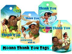 Moana Inspired Tags Moana Tags Moana Thank You Tags Moana Party Supplies Moana Thanks tag Moana Birthday Party Moana Tag Moana Thanks Tag