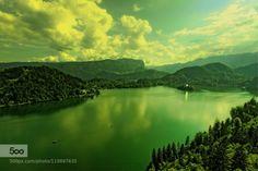 Mirror Bled by WenMinTseng  Julian Alps Lake Bled Slovene Slovenia bled cloud lake mirror sunset WenMinTseng
