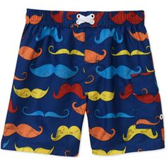 OP Baby Boys' Mustache Swim Trunks $8 walmart online