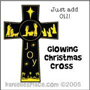 Glowing Cross Craft from www.daniellesplace.com