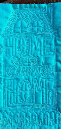 Home Sweet Home, Free Motion Quilting The Inbox Jaunt Lori Kennedy