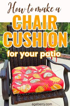 Learn how to make DIY outdoor cushions or DIY outdoor cushion makeover with this video sewing tutorial on how to sew chair cushions. Beginner sewing project, DIY outdoor chair cushions for your patio or a porch are easy to make for beginners and I am showing you the process step by step. No matter how good the chairs are, without cushions they will not be comfortable enough.You don't need to spend a fortune to make your outdoor chair cushions look nice. Sewing For Beginners Diy, Sewing For Dummies, Sewing Basics, Outdoor Chair Cushions, Outdoor Chairs, Easy Sewing Patterns, Sewing Tutorials, How To Make Diy, How To Look Better