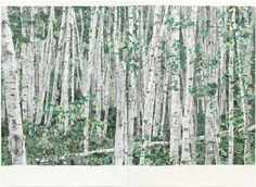 """""""You Can't See the Forest for the Trees"""", 2003 //  Marcel Odenbach (German, born 1953) // #art #painting #landscape"""