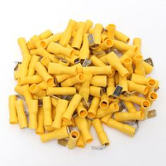 100Pcs 12-10AWG Insulated Yellow Piggy Back Splice Connector Crimp Electrical Terminals
