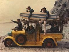 """I love many of the Beach Boys' album designs in the They're exaggerated and ridiculous, but also make me smile, so that can't be a bad thing. """"Surfin' Safari"""" - The Beach Boys The Beach Boys, Beatles, Safari, Rock And Roll, Deco Surf, Ten Little Indians, Surf Music, Rock Music, Music Music"""