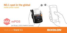The World's #1 mobile receipt printer manufacturer, showcasing @mposworld #mPOS #Payment #Retail #Hospitality #AutoID