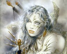 Luis Royo is a Spanish artist, known for his sensual and dark paintings, his fantasy worlds and mechanical life forms. Royo has produced paintings, Dark Fantasy, Fantasy Girl, Chica Fantasy, Fantasy Women, Dark Paintings, Fantasy Paintings, Fantasy Artwork, Fantasy Drawings, Fantasy Warrior