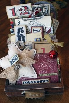 Christmas Countdown-love that they used TC NOEL