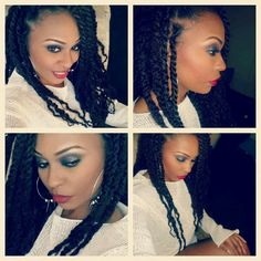 Haute Protective Twists- do this with the marley braid hair