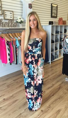 Fay Navy Abstract Floral Print Maxi - The Style Bar Boutique  - 1