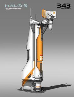 Halo 5 - Warzone Structures - Antenna by Albert Ng on ArtStation. Spaceship Interior, Spaceship Design, Spaceship Concept, Futuristic City, Futuristic Architecture, Environment Concept Art, Environment Design, Cyberpunk, Sci Fi City