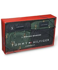 Tommy Hilfiger Men's Underwear, Woven Boxer 2 Pack Gift Set Men's Underwear, Men's Undies, Gift Packaging, Packaging Design, Boxer, Underwear Packaging, Tommy Hilfiger, Shops, Packing
