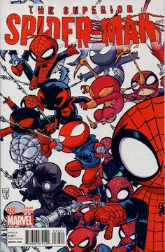 A checklist or reading order list or for the Edge of Spider-verse story line by Marvel comics.