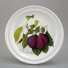 """We own 13 place settings, this is 1 of the 13 PORTMEIRION china POMONA patterns, 10-1/2"""" DINNER PLATE REINE PURPLE PLUM"""