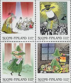 Buy and sell stamps from Finland. Meet other stamp collectors interested in Finland stamps. Postcard Postage, Postage Stamps, Tove Jansson, Cool Books, Children's Book Illustration, My Stamp, Stamp Collecting, Mail Art, Conte