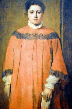Edgar Degas - Girl in Red, 1866 ✏✏✏✏✏✏✏✏✏✏✏✏✏✏✏✏ ARTS ET PEINTURES - ARTS AND PAINTINGS ☞ https://fr.pinterest.com/JeanfbJf/pin-peintres-painters-index/ ══════════════════════ Gᴀʙʏ﹣Fᴇ́ᴇʀɪᴇ BIJOUX ☞ https://fr.pinterest.com/JeanfbJf/pin-index-bijoux-de-gaby-f%C3%A9erie-par-barbier-j-f/ ✏✏✏✏✏✏✏✏✏✏✏✏✏✏✏✏