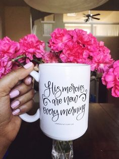Excited to share this item from my shop: Ceramic Mug His Mercies Are New Every Morning Mug Coffee Mug Christian Mom Bible Verse Mug Christian Gift Gifts for Her New Every Morning, Lamentations, Christian Gifts, Christian Decor, Christian Women, Christmas Mugs, Bible Scriptures, Gifts For Her, Etsy Seller