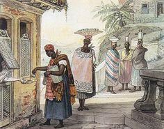 Caffé (sic) torrado, 1826, aquarela sobre papel, 15,40 x 19,60 cm. Museus Castro Maya - IPHAN/MinC (Rio de Janeiro).