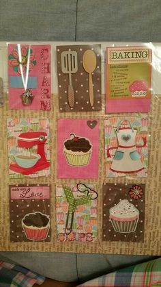 Pocket Letters ❤ Cupcake Theme Paper Pocket, Pocket Cards, Scrapbook Supplies, Scrapbook Cards, Pocket Pal, Project Life Cards, Atc Cards, Pocket Scrapbooking, Paper Crafts