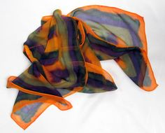 Hand painted silk scarf chiffon 8 by ScarvesOfPaintedSilk on Etsy