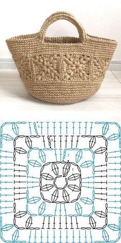 Crochet Mat, Crochet Pouch, Free Crochet, Crochet Handbags, Crochet Purses, Knitting Patterns, Crochet Patterns, Macrame Patterns, Crochet Storage