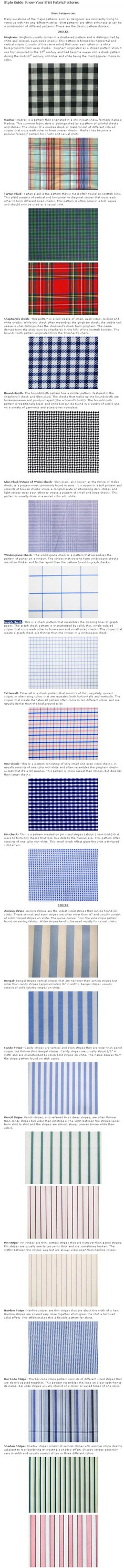 Style Guide: Know Your Shirt Fabric Patterns