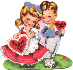 Free Vintage Valentines Day Printables...these would make such cute cards! just R click and save
