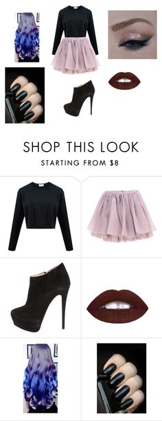 """""""Cotton Candy Goth"""" by thatgothchic on Polyvore featuring Olympia Le-Tan, Giuseppe Zanotti, women's clothing, women's fashion, women, female, woman, misses and juniors"""