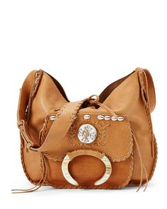 Hand-Laced Leather Hobo Bag - Ralph Lauren Shop All - RalphLauren.com