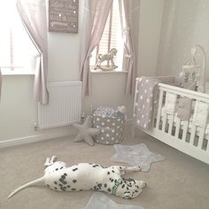 Just another gorgeous picture The French Bedroom Company are loving on Instagram: Well baby has been fast asleep for an hour now and his big brother is watching over him!! Let's hope it stays this way so momma can enjoy a glass of vino #my1styears #mandphome #nursery #newmum #nurserydecor #nurseryinspo #babyboy #babyroom #boysroom #rockinghorse #interior123 #interior #bedroom #startheme #barnstar #babyspam #boysroom #star #mamasandpapas  #dog #dalmatian #dalmation #spottydog #mrlouis…