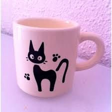 Black Cat Coffee Mug Designs You Will Love Sharpie Crafts, Sharpie Pens, Sharpies, Pottery Painting, Ceramic Painting, Diy Becher, Hand Painted Mugs, Diy Mugs, Cat Mug