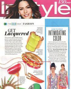 (April 2012) @InStyle Magazine: Glamour Horn Necklace from SwankAtlanta.com. (@Emily Dees Boulden)