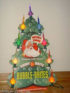 Radko Shiny Brite Christmas Department Store Bubble Light Tree Counter Display