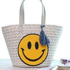 Straw Smiling Smile Handbag