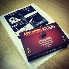 It's arrived! #explodingkittens #kickstarter