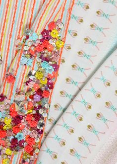 Textile Design by Alix Massieux -- embroidery & beading