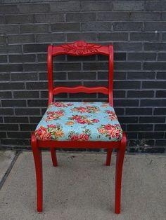 <3 Vintage Red Painted Furniture