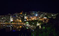 Agios Nikolaos, Crete, Greece Crete Greece, Places To Travel, Times Square, Destinations, Holiday Destinations